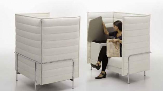 Multifunctional sofa desk with storage