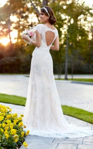 Heart Cut out wedding dress