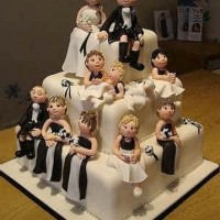 Wedding Party cakeNon-Traditional Wedding Cakes or are they?