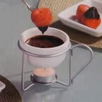 Individual chocolate fondue pots