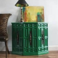 Emerald Green Vintage Night Table
