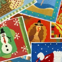 Holiday Theme Doormat