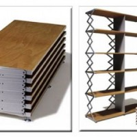 Foldable Shelving Units by Scheren Regal