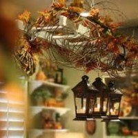 Use items in/around your home when decorating for the Holiday's