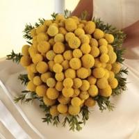 Craspedia Flower Wedding Bouquet