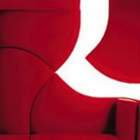 Red color R15 Sofa by Redo Studio