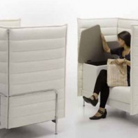 Multifunctional sofa desk with storage