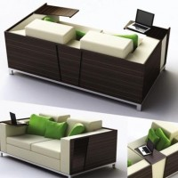 Couch & Desk Combo