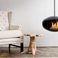 Adjustable Hanging Fireplace by 'Cocoon Fires'