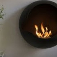 Spherical Wall Mounted Fireplace