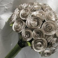Wedding bouquet from recycled paper
